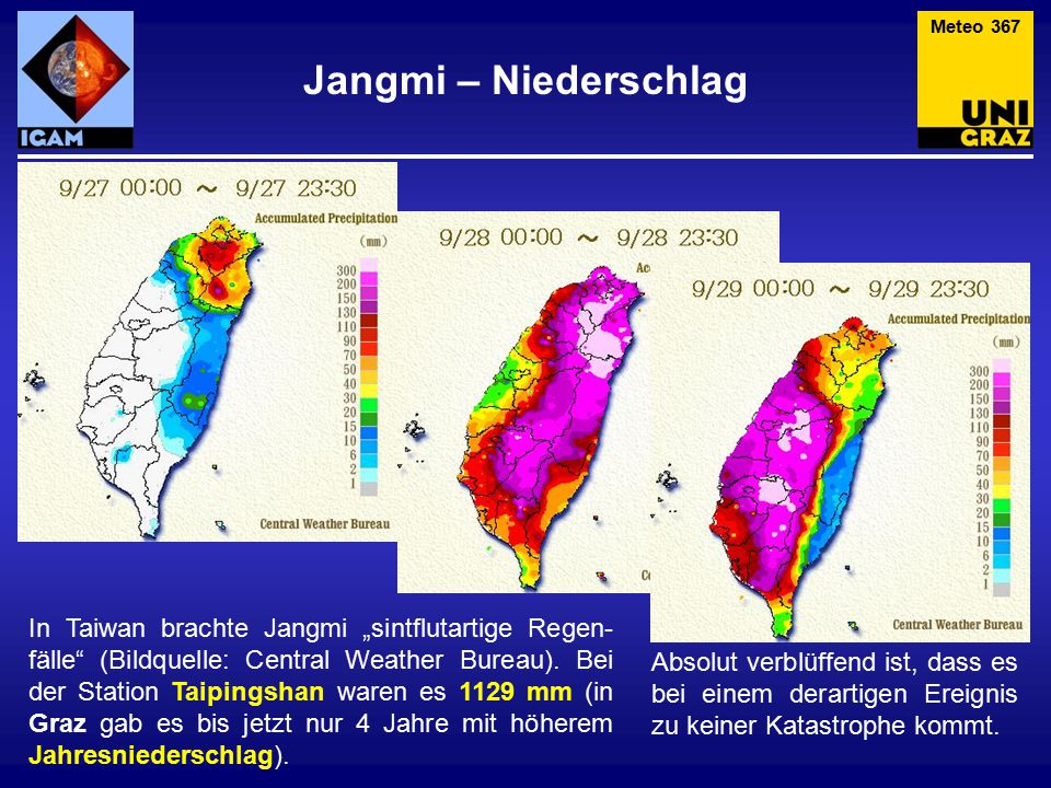 Meteo 367 Jangmi – Niederschlag.