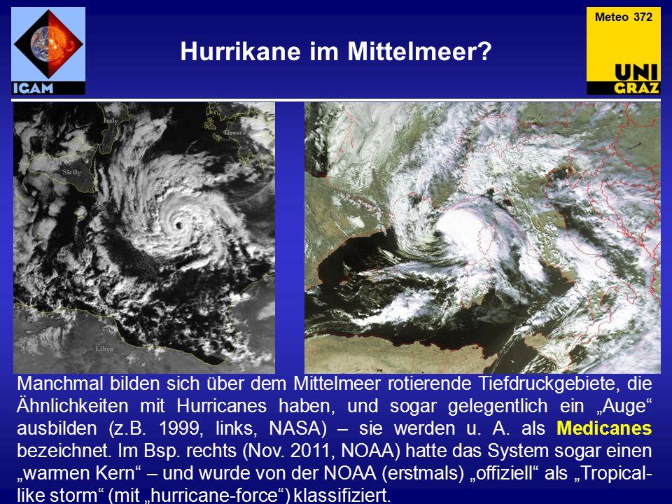 Hurrikane im Mittelmeer