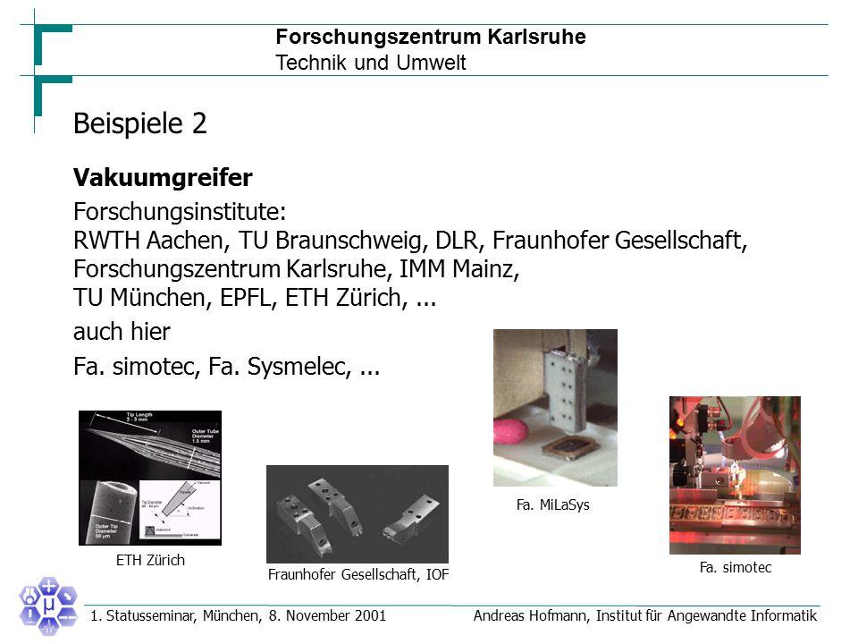 Beispiele 2 Vakuumgreifer