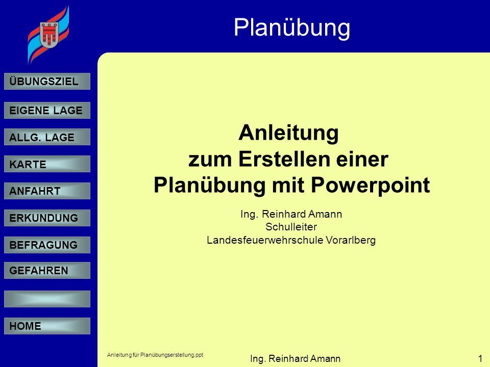Planübung mit Powerpoint