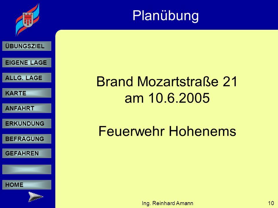Planübung Brand Mozartstraße 21 am 10.6.2005 Feuerwehr Hohenems