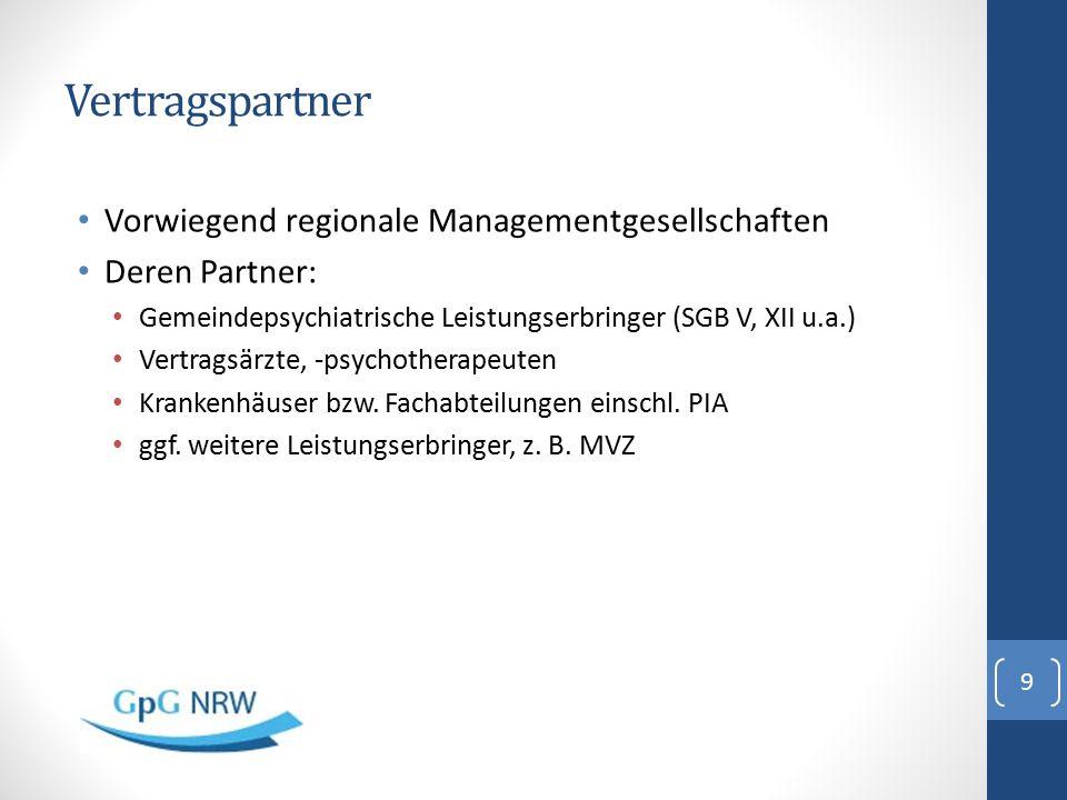 Vertragspartner Vorwiegend regionale Managementgesellschaften