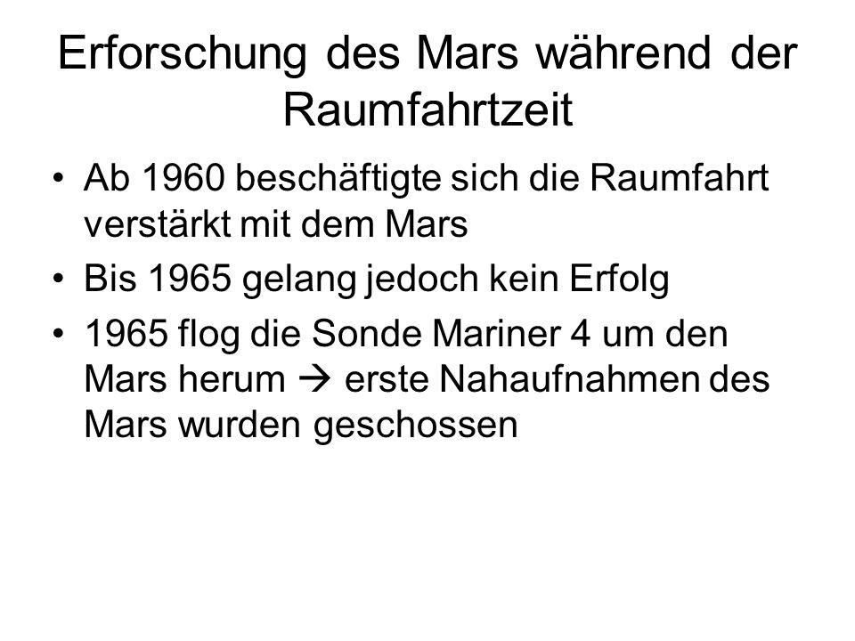 Erforschung des Mars während der Raumfahrtzeit