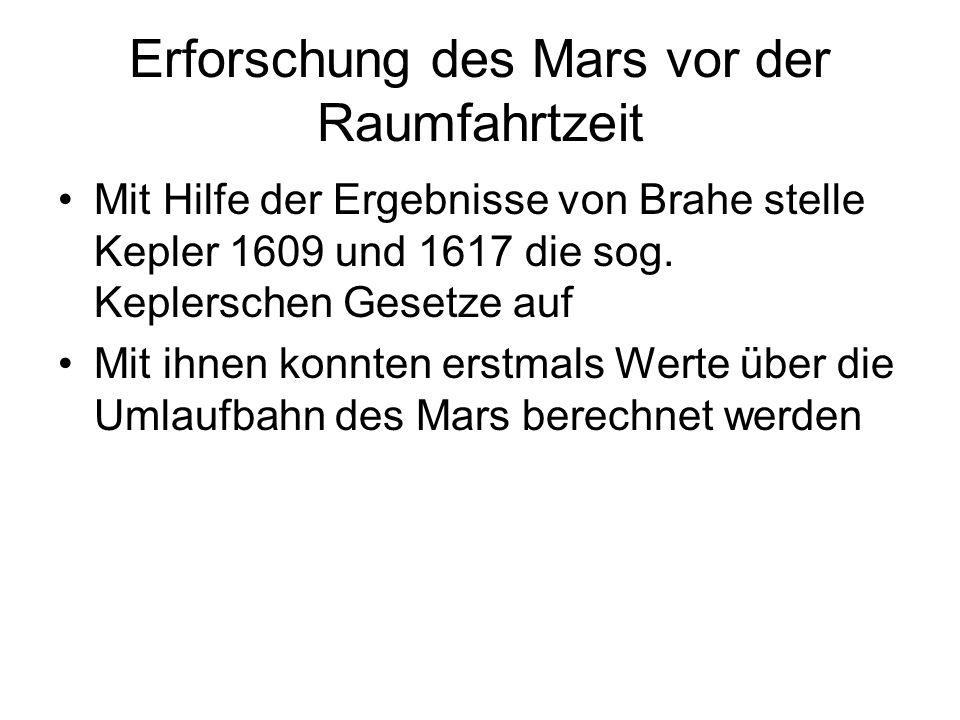 Erforschung des Mars vor der Raumfahrtzeit