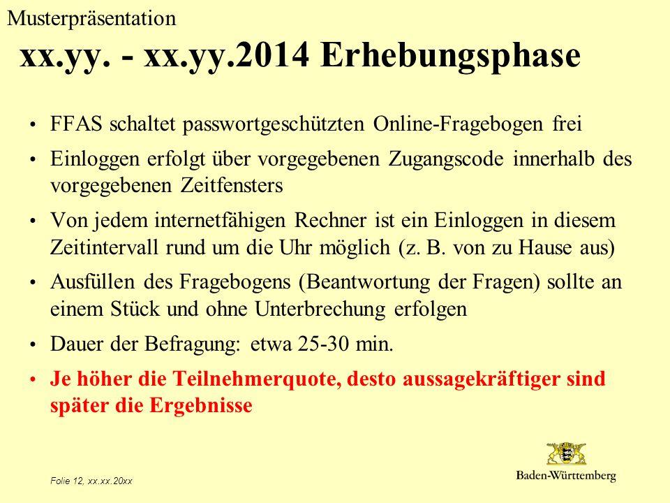 xx.yy. - xx.yy.2014 Erhebungsphase