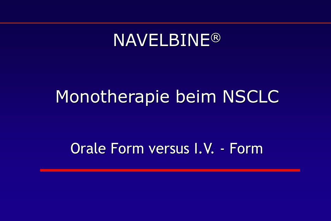 Monotherapie beim NSCLC