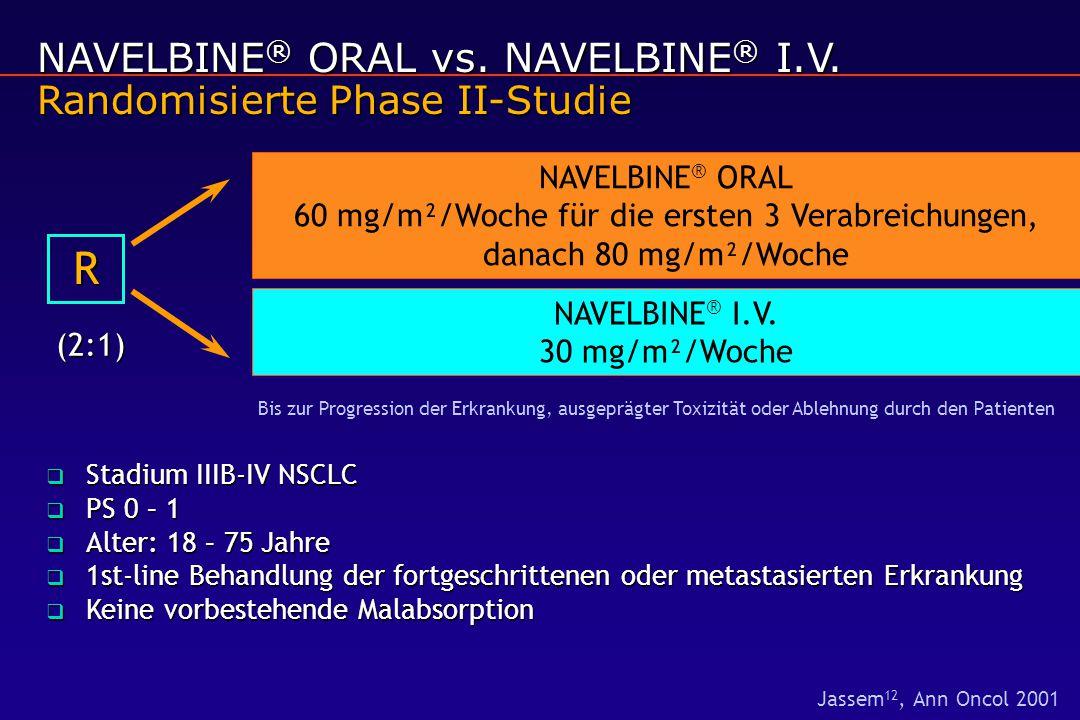 NAVELBINE® I.V. 30 mg/m²/Woche