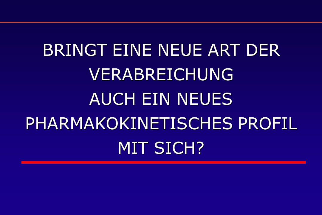 BRINGT EINE NEUE ART DER VERABREICHUNG AUCH EIN NEUES PHARMAKOKINETISCHES PROFIL MIT SICH