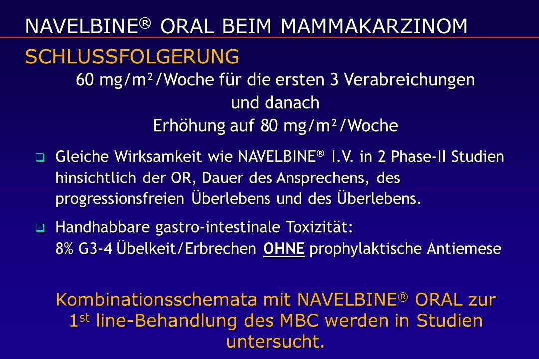 NAVELBINE® ORAL BEIM MAMMAKARZINOM