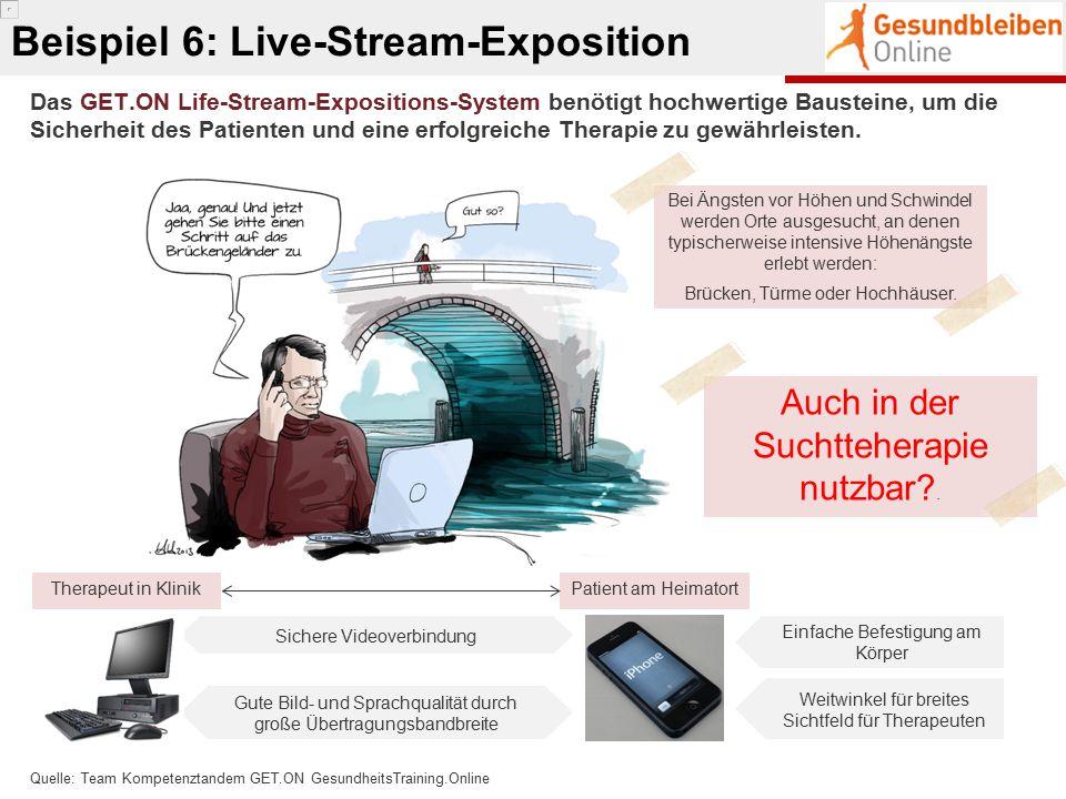 Beispiel 6: Live-Stream-Exposition