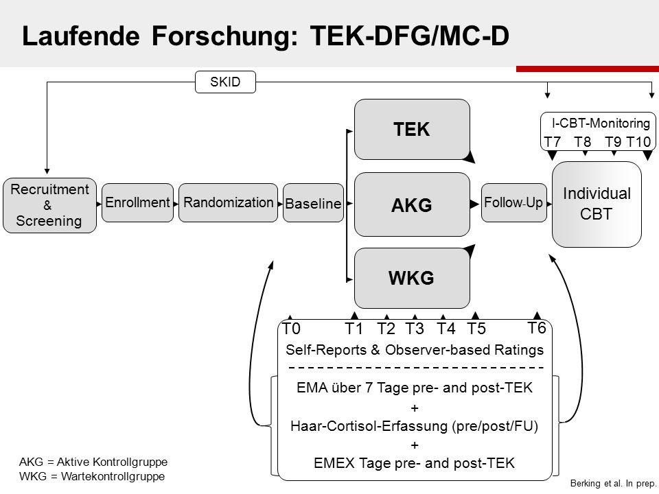 Laufende Forschung: TEK-DFG/MC-D