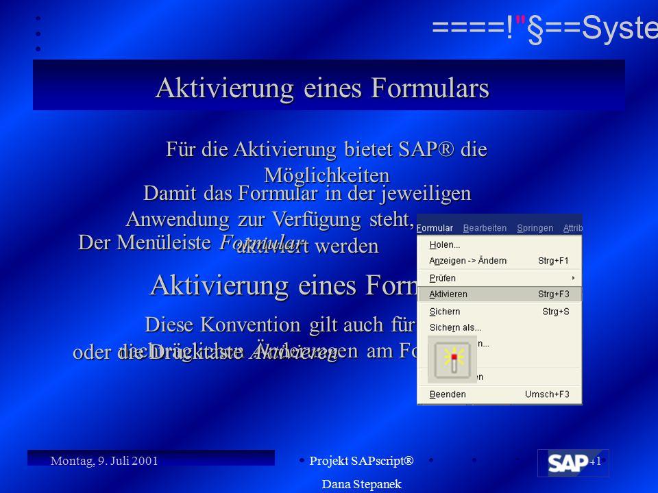 Für die Aktivierung bietet SAP® die Möglichkeiten