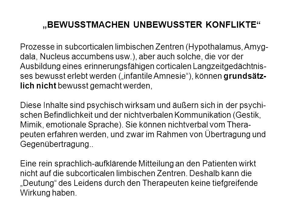 """""""BEWUSSTMACHEN UNBEWUSSTER KONFLIKTE"""