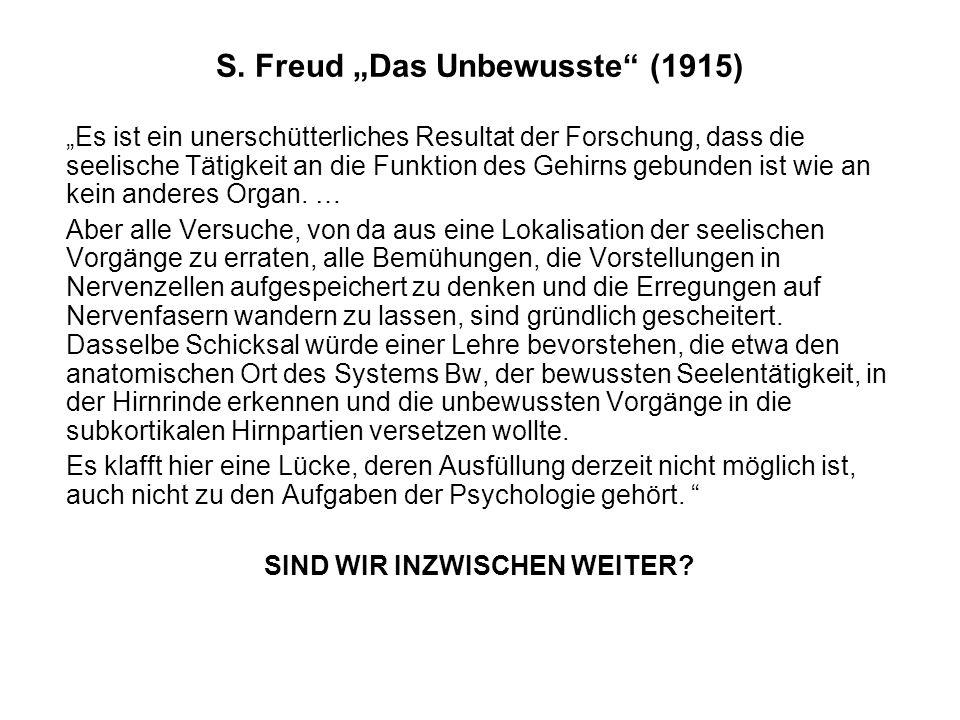 "S. Freud ""Das Unbewusste (1915)"