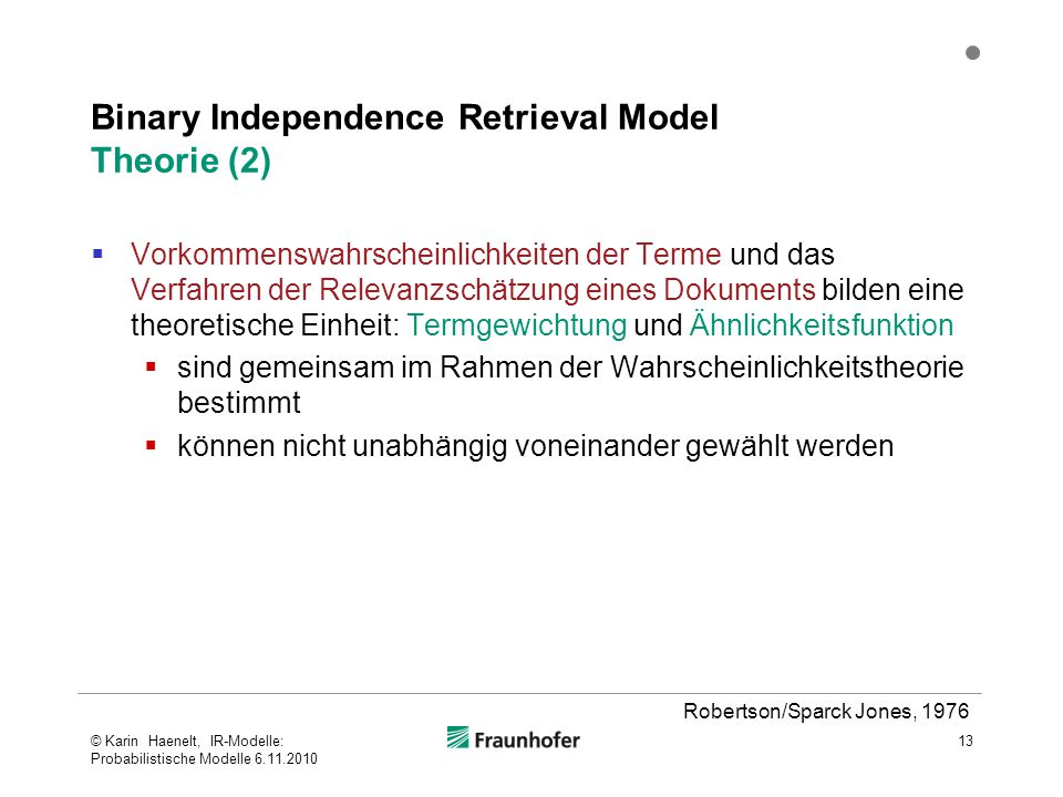 Binary Independence Retrieval Model Theorie (2)