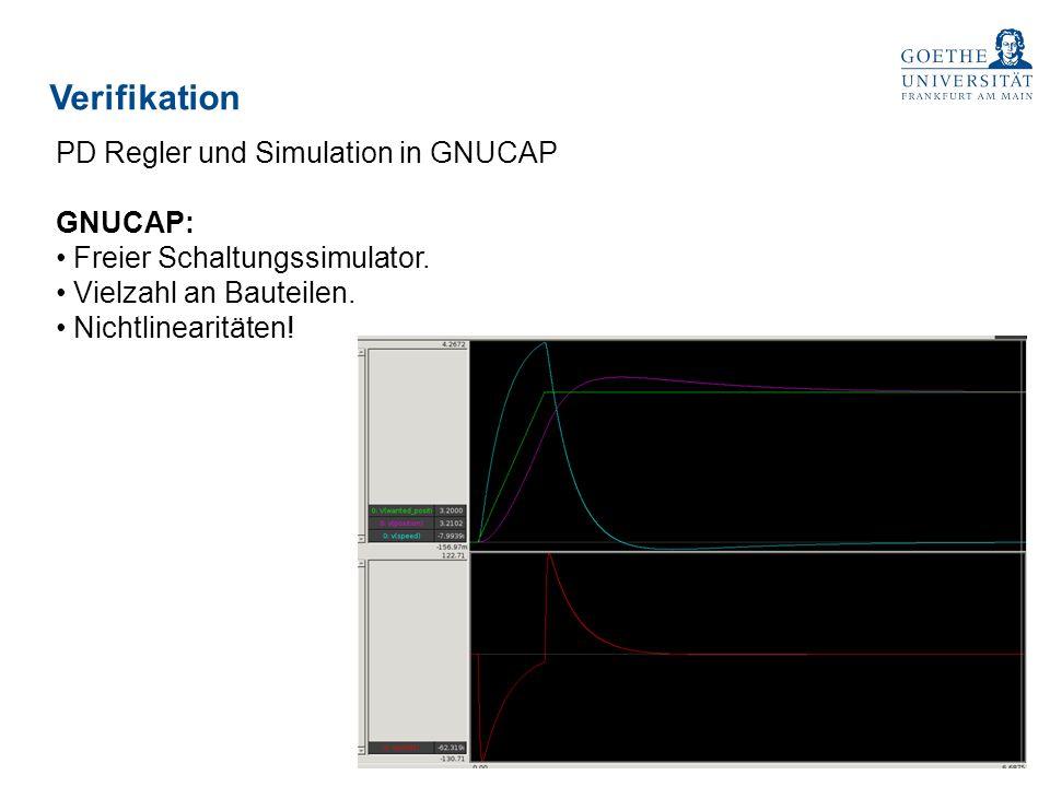 Verifikation PD Regler und Simulation in GNUCAP GNUCAP: