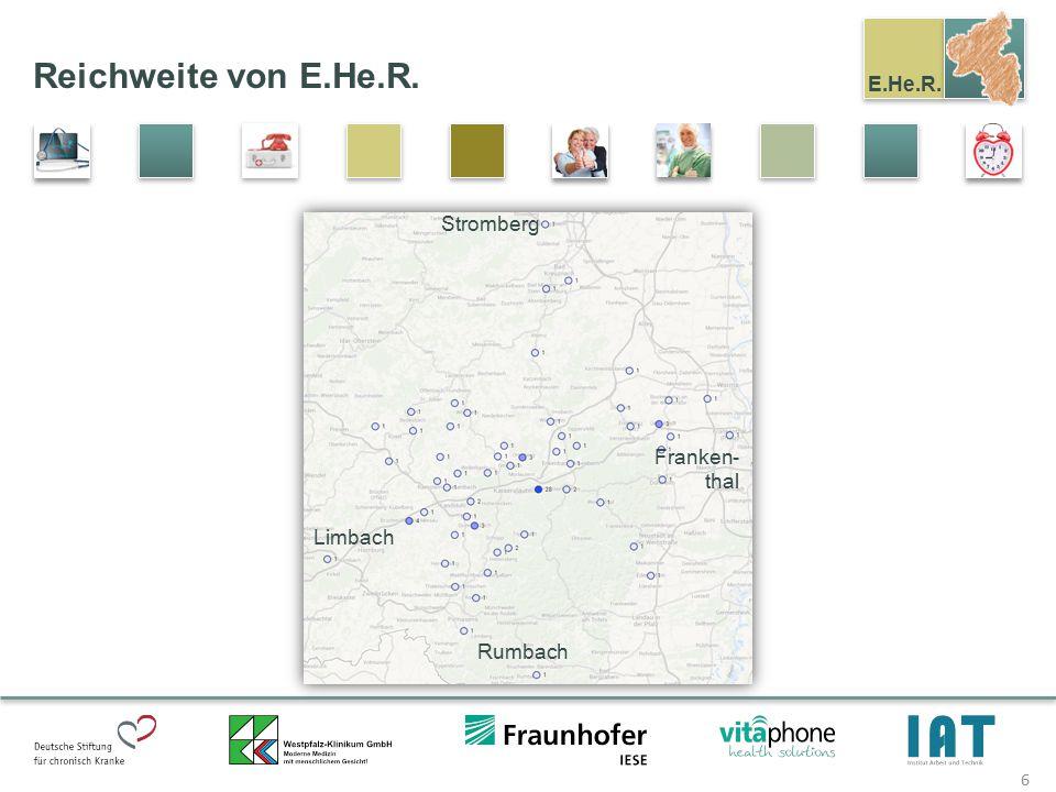 Reichweite von E.He.R. Stromberg Franken-thal Limbach Rumbach