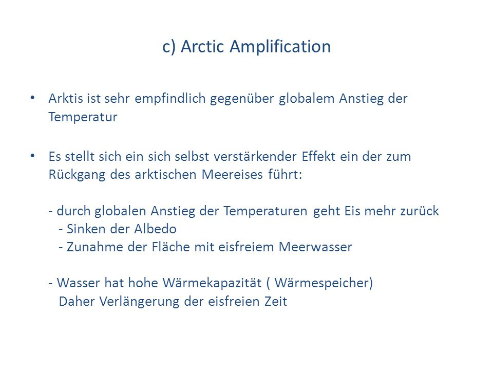 c) Arctic Amplification