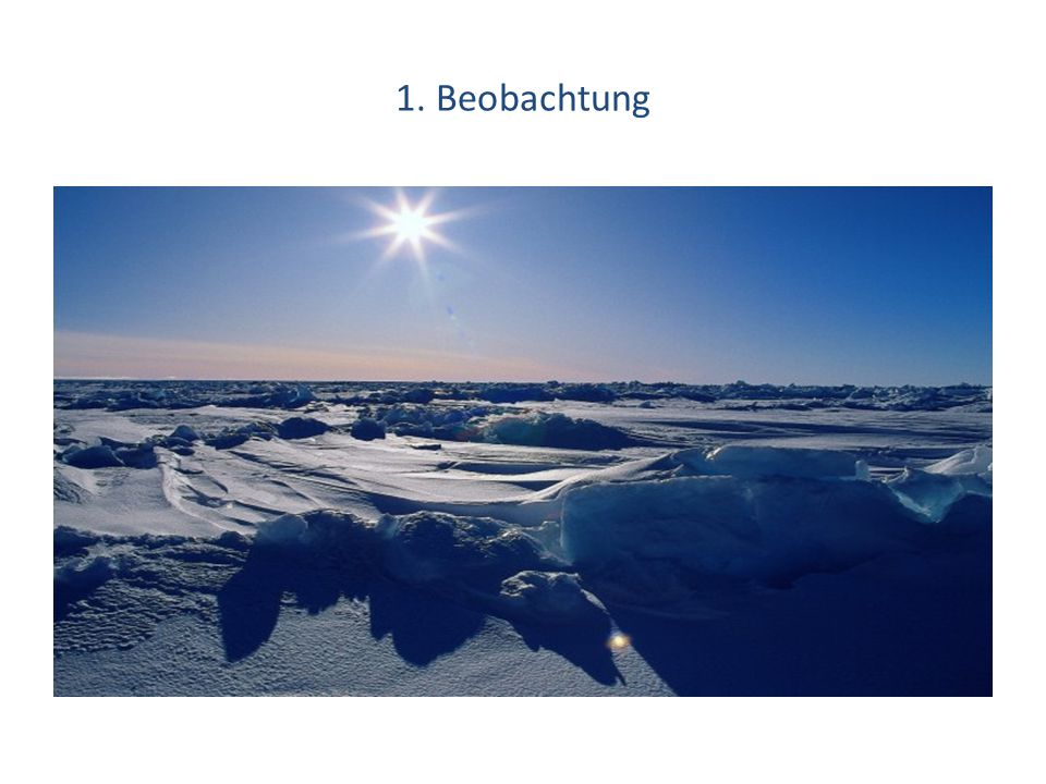 1. Beobachtung