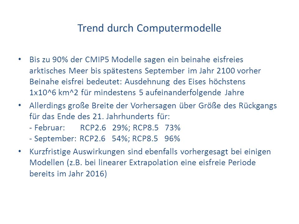 Trend durch Computermodelle