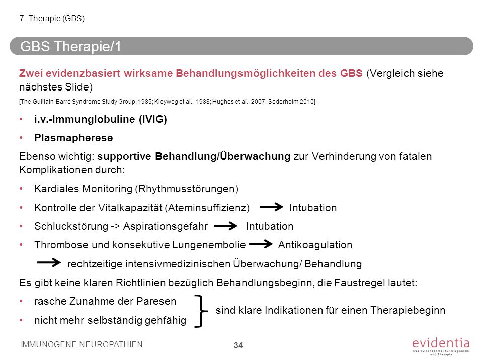 7. Therapie (GBS) GBS Therapie/1.