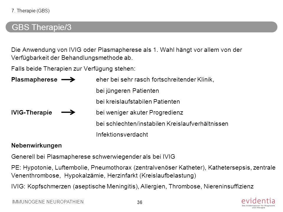 7. Therapie (GBS) GBS Therapie/3.