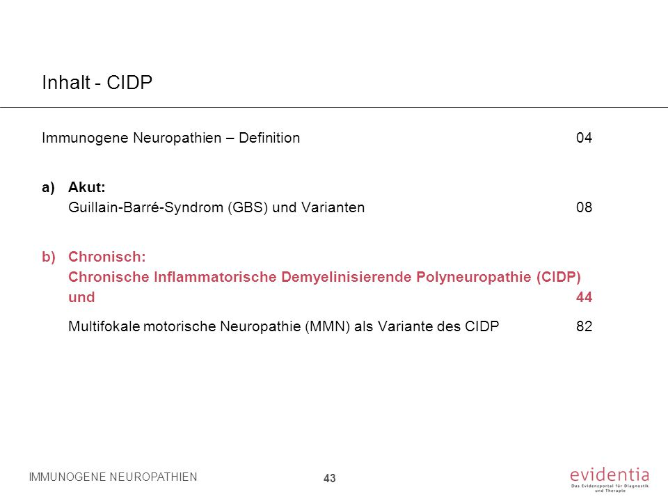 Inhalt - CIDP Immunogene Neuropathien – Definition 04