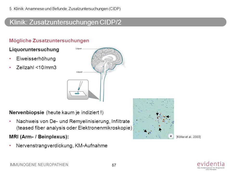 Klinik: Zusatzuntersuchungen CIDP/2