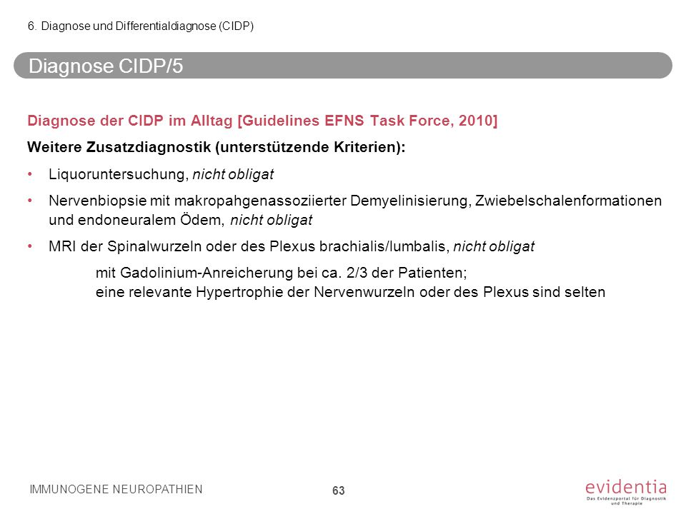 6. Diagnose und Differentialdiagnose (CIDP)