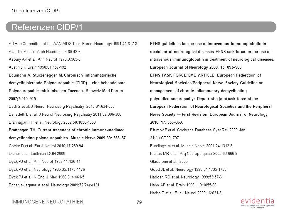 Referenzen CIDP/1 10. Referenzen (CIDP)