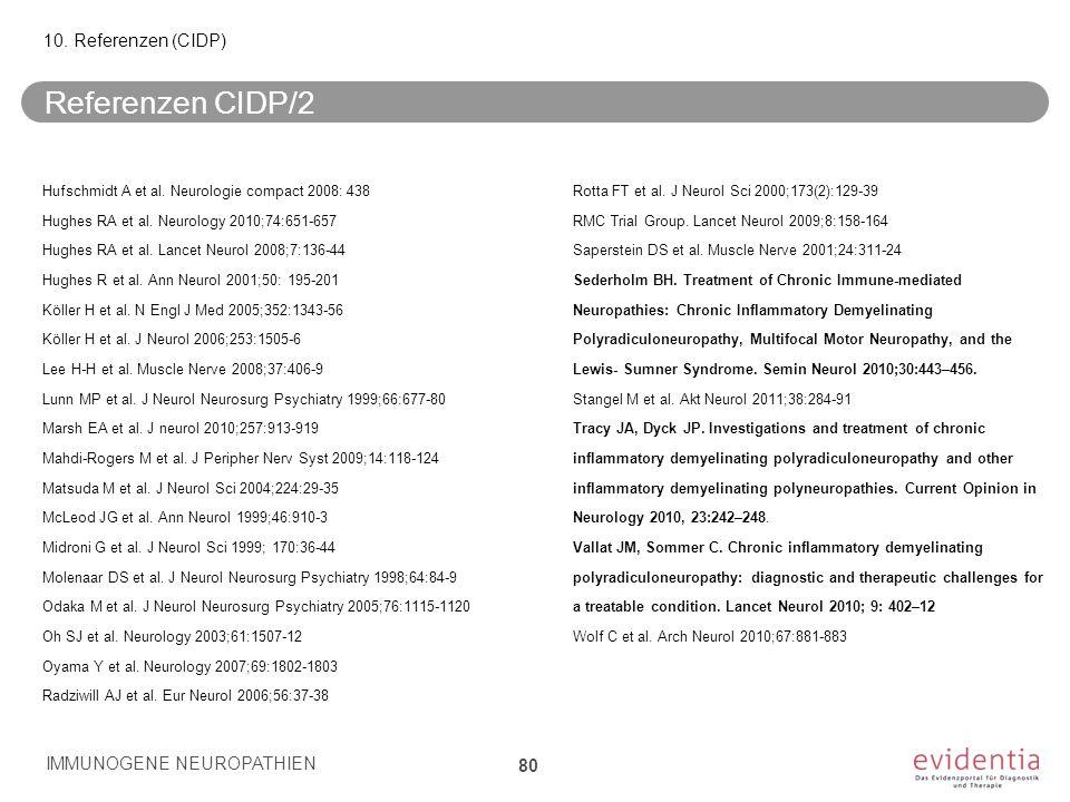 Referenzen CIDP/2 10. Referenzen (CIDP)