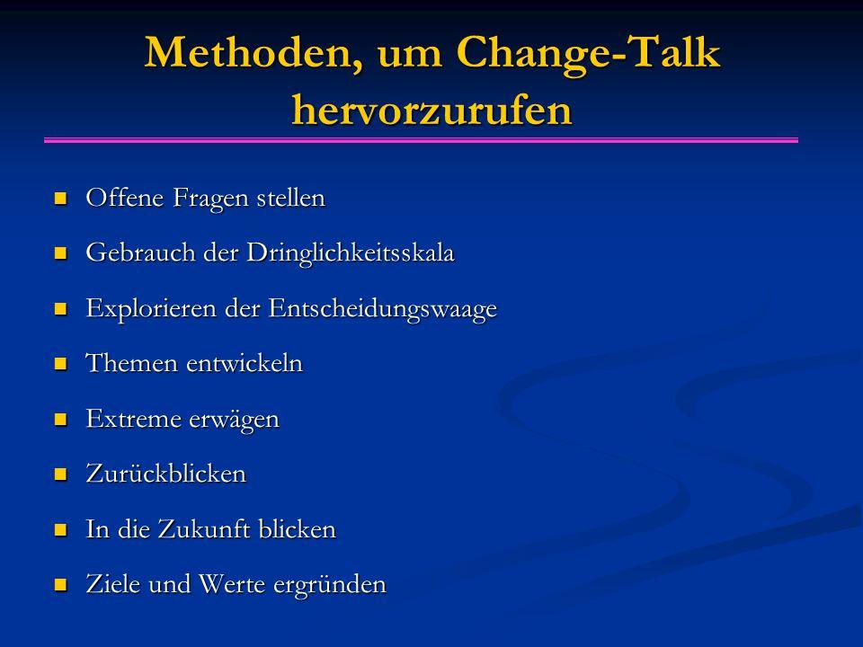 Methoden, um Change-Talk hervorzurufen