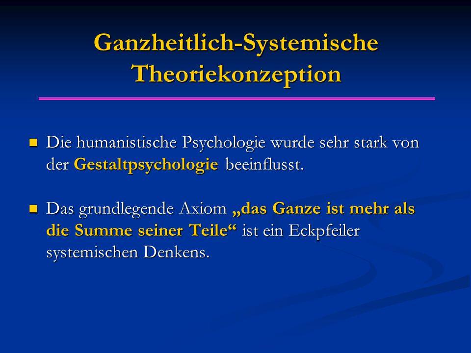 Ganzheitlich-Systemische Theoriekonzeption