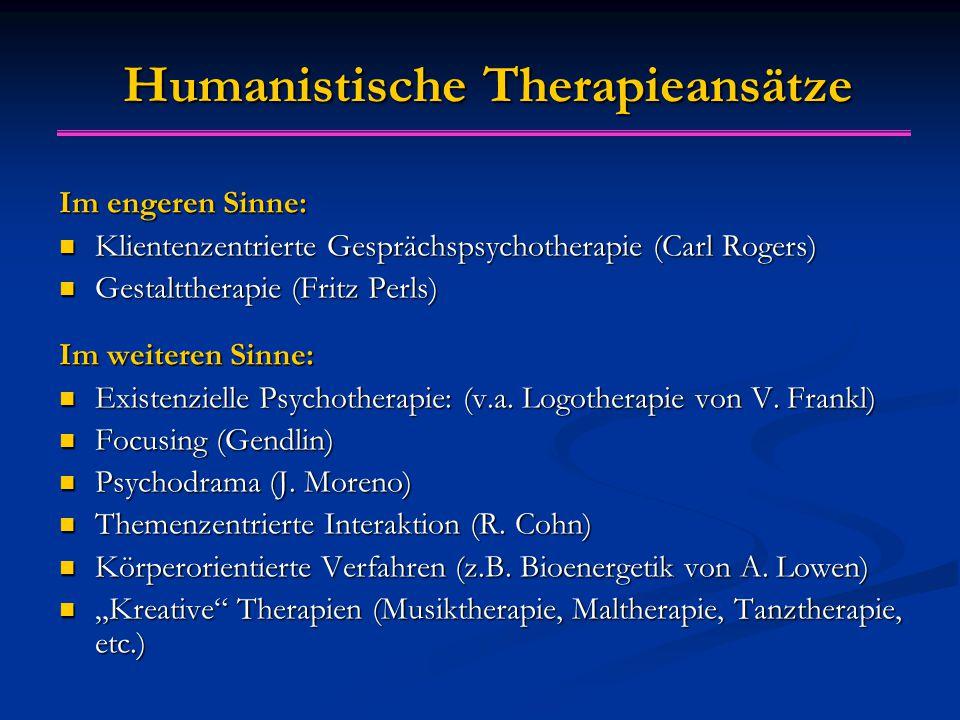 Humanistische Therapieansätze
