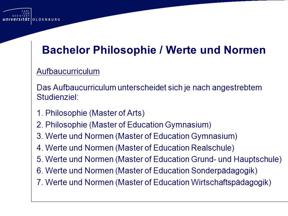 Bachelor Philosophie / Werte und Normen
