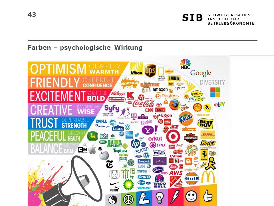 Farben – psychologische Wirkung