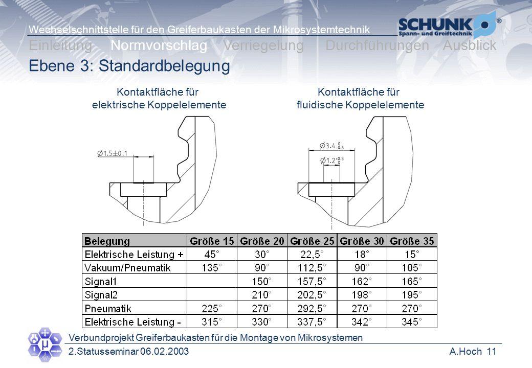 Ebene 3: Standardbelegung
