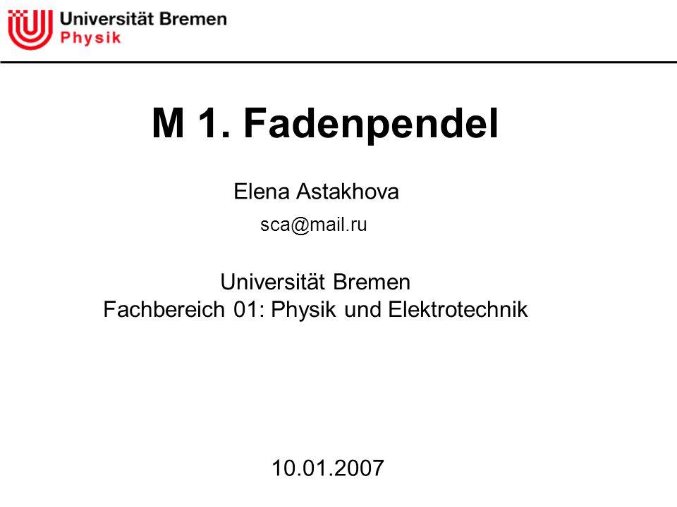 Fachbereich 01: Physik und Elektrotechnik