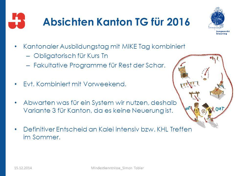 Absichten Kanton TG für 2016