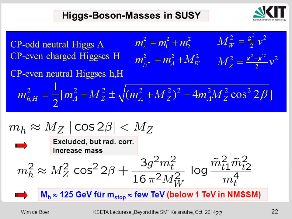 Higgs-Boson-Masses in SUSY