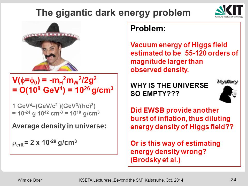 The gigantic dark energy problem