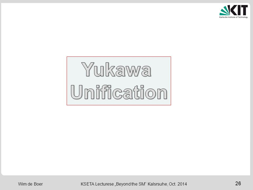 Yukawa Unification