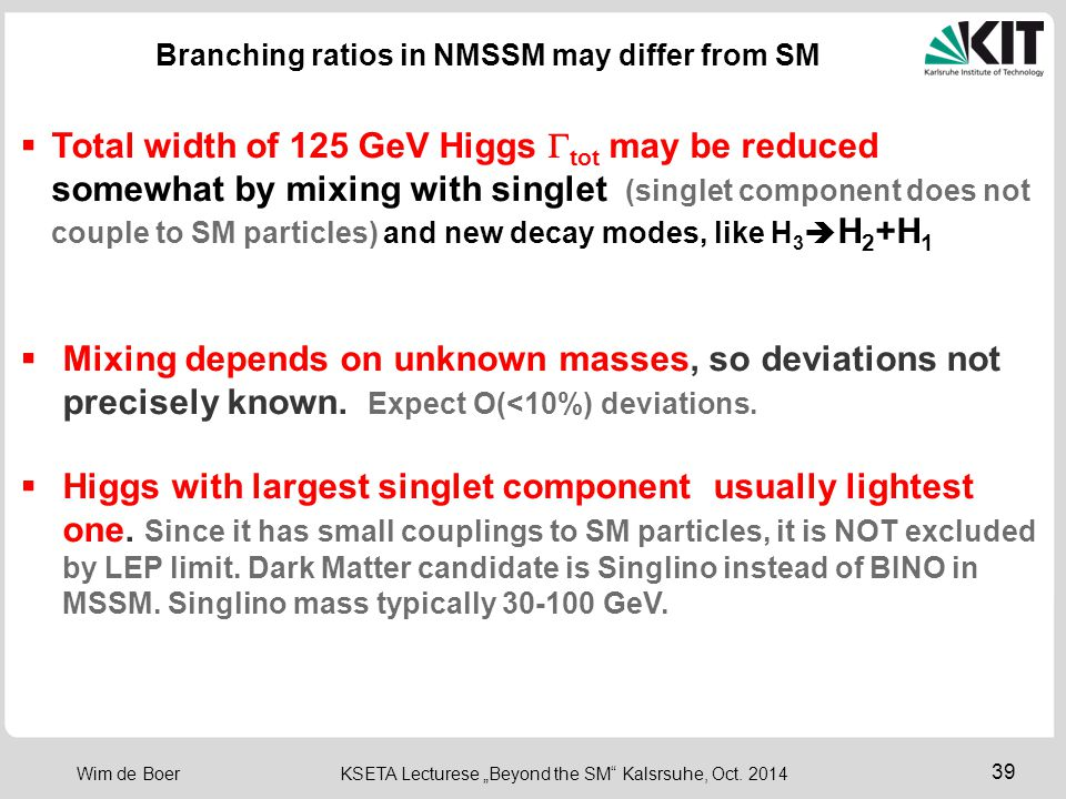 Branching ratios in NMSSM may differ from SM