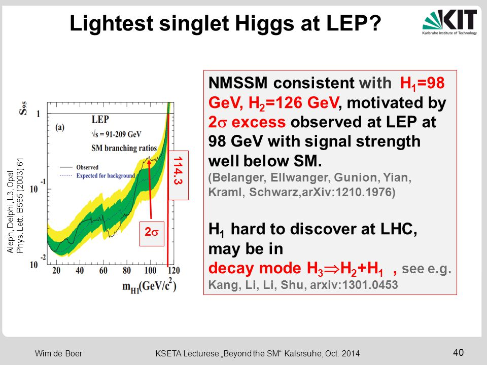 Lightest singlet Higgs at LEP