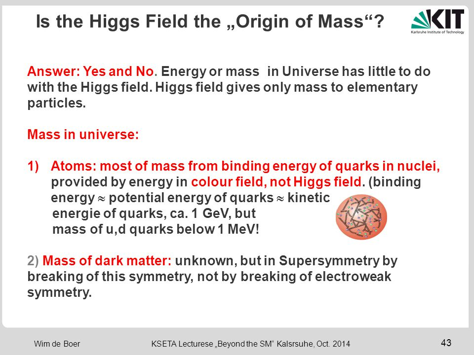 "Is the Higgs Field the ""Origin of Mass"