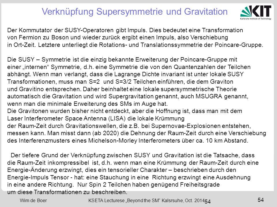 Verknüpfung Supersymmetrie und Gravitation
