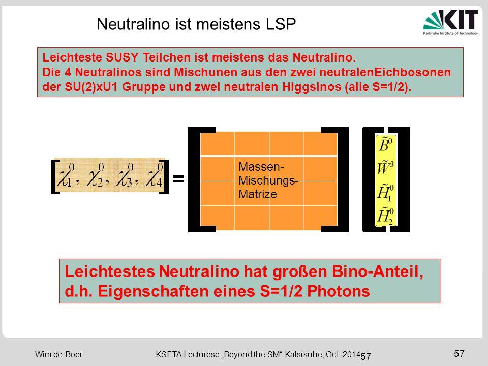 Neutralino ist meistens LSP