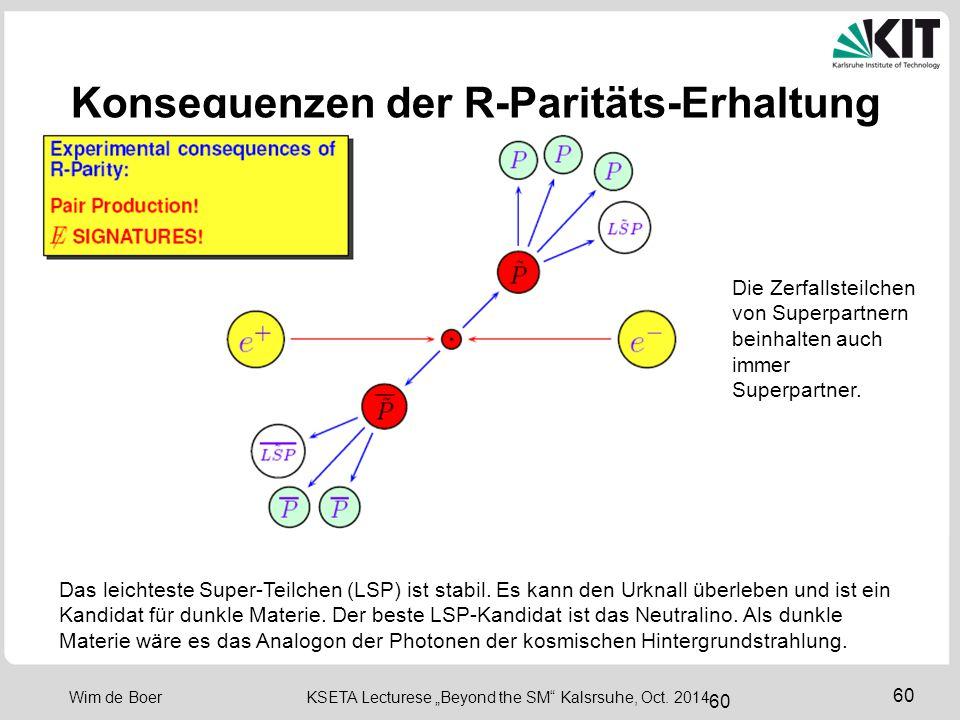 Konsequenzen der R-Paritäts-Erhaltung