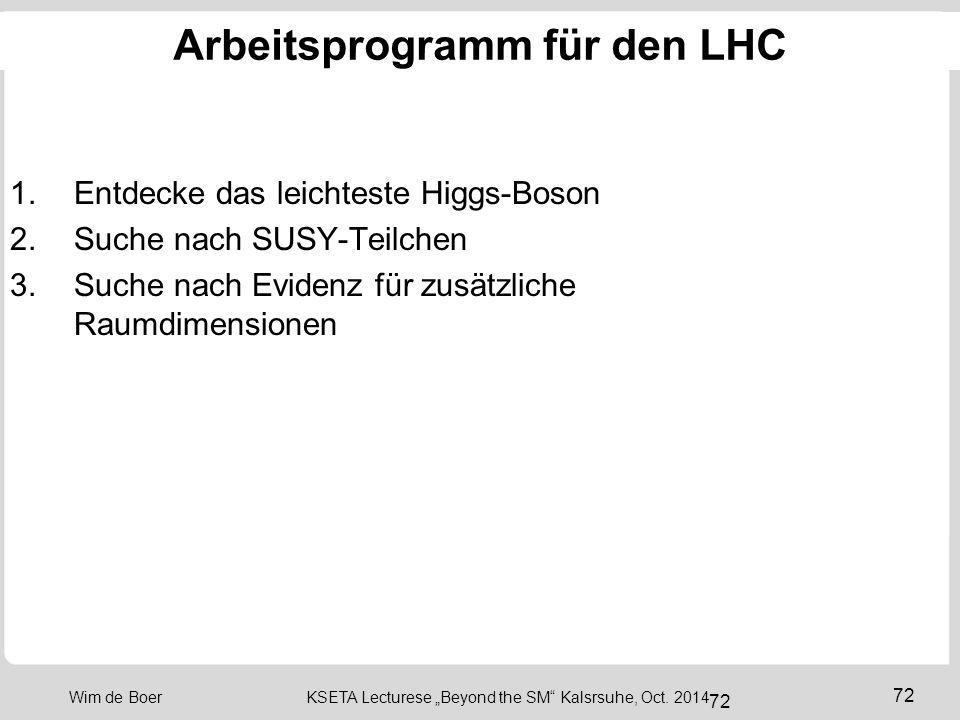Arbeitsprogramm für den LHC