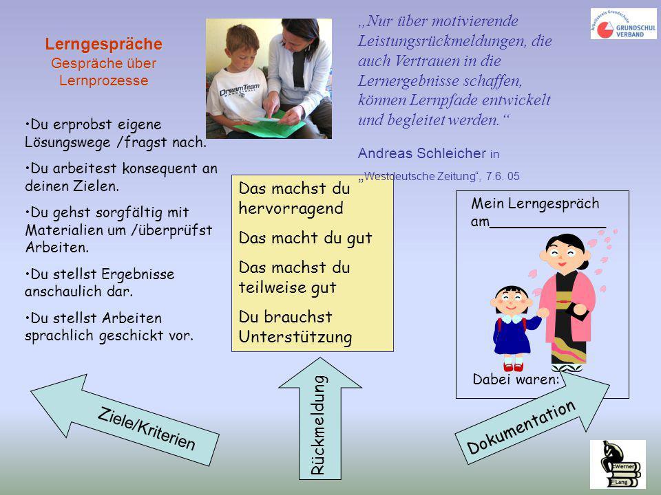 Lerngespräche Gespräche über Lernprozesse